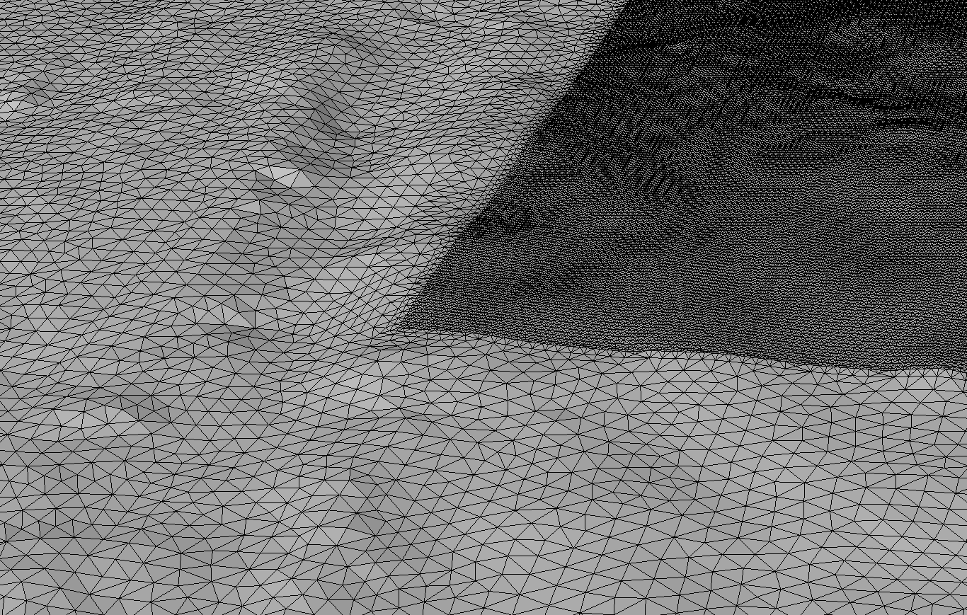 meshed topography