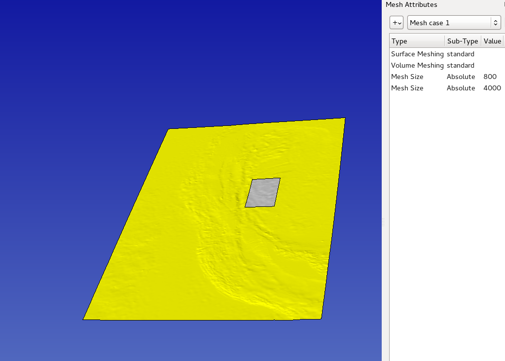 topography in SimModeler